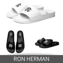 Ron Herman Unisex Faux Fur Plain Handmade Shower Shoes Shower Sandals