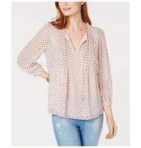 Tommy Hilfiger Dots Long Sleeves Medium Elegant Style Shirts & Blouses