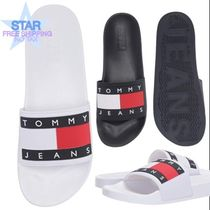 Tommy Hilfiger Unisex Plain Shower Shoes Logo Shower Sandals