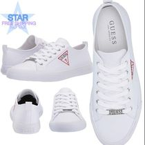 Guess Round Toe Lace-up Casual Style Plain Low-Top Sneakers