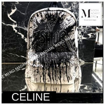CELINE Calfskin Chain Backpacks