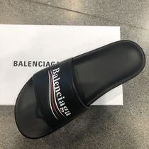 BALENCIAGA Leather Shower Shoes Shower Sandals
