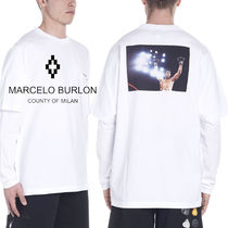 Marcelo Burlon Plain Cotton Short Sleeves T-Shirts