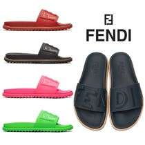 FENDI Street Style Plain Shower Shoes Shower Sandals