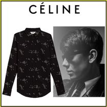 CELINE Long Sleeves Plain Cotton Shirts
