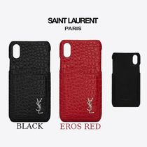 Saint Laurent Other Animal Patterns Leather Smart Phone Cases