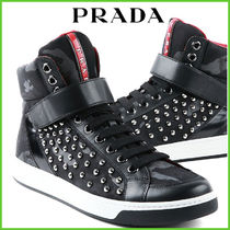 PRADA Camouflage Studded Sneakers
