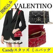 VALENTINO Studded 2WAY Chain Leather Shoulder Bags