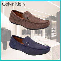 Calvin Klein Driving Shoes Plain U Tips Loafers & Slip-ons