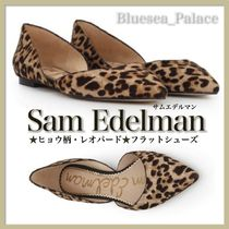 Sam Edelman Leopard Patterns Suede Pointed Toe Shoes