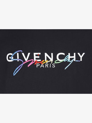 GIVENCHY Crew Neck Crew Neck Unisex Street Style Plain Cotton Short Sleeves 5