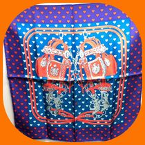 HERMES Heart Casual Style Silk Lightweight Scarves & Shawls