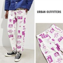 Urban Outfitters Printed Pants Cotton Patterned Pants