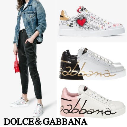 Round Toe Rubber Sole Lace-up Casual Style Bi-color