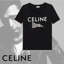 CELINE Crew Neck Unisex Plain Cotton Short Sleeves