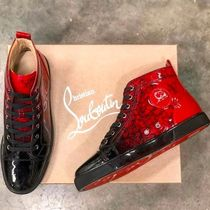 Christian Louboutin LOUIS Enamel Street Style Bi-color Plain Sneakers