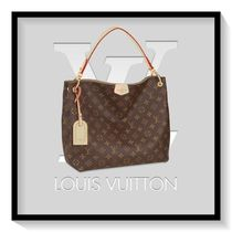 Louis Vuitton Monogram Casual Style Canvas Blended Fabrics A4 Totes