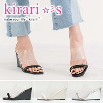 Open Toe Casual Style Plain Other Animal Patterns