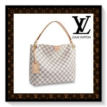 Louis Vuitton Other Check Patterns Casual Style Canvas Blended Fabrics A4
