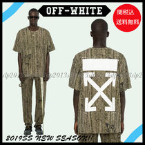 Off-White Crew Neck Unisex Blended Fabrics Collaboration Cotton