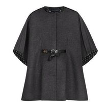 Louis Vuitton Monogram Wool Blended Fabrics Plain Medium Ponchos & Capes