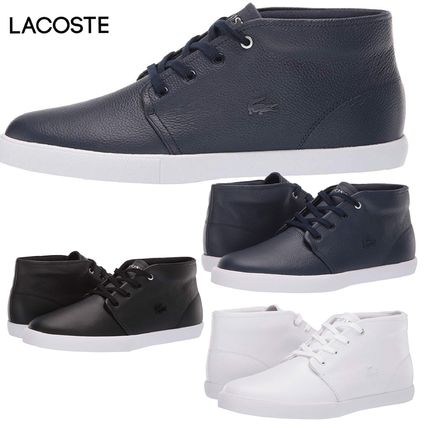 65ac56bb5 LACOSTE 2019 SS Street Style Plain Leather Sneakers by CKPrecious ...