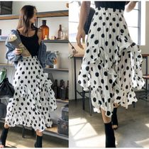 Dots Casual Style Long Maxi Skirts