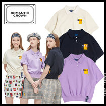 ROMANTIC CROWN Street Style Polos