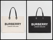 Burberry Casual Style Unisex Canvas Blended Fabrics Street Style A4