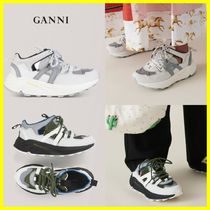 Ganni Casual Style Low-Top Sneakers