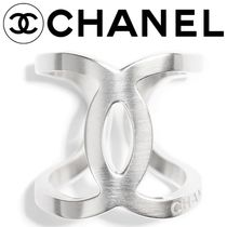 CHANEL Unisex Blended Fabrics Street Style Party Style Silver Rings