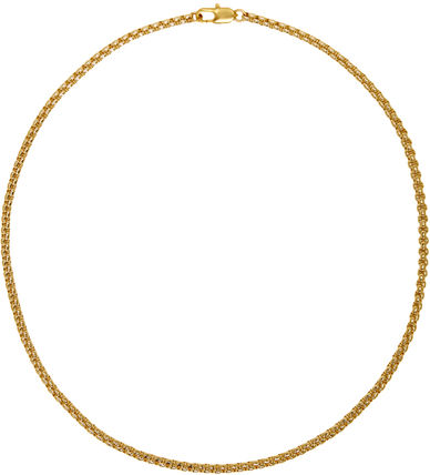 Chain Brass 14K Gold Elegant Style Necklaces & Pendants
