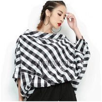 Other Check Patterns Casual Style Street Style Cotton Medium