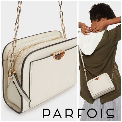 PARFOIS Shoulder Bags Casual Style Plain Shoulder Bags