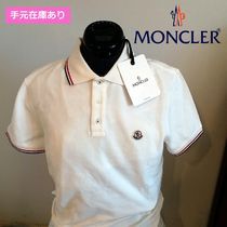 MONCLER Plain Cotton Short Sleeves Polos