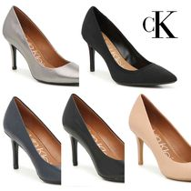 Calvin Klein Leather High Heel Pumps & Mules