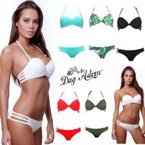 Dag Adom Tropical Patterns Plain Bikinis