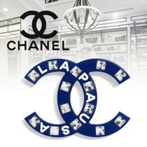CHANEL Costume Jewelry Blended Fabrics Elegant Style Accessories
