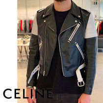 CELINE Bi-color Leather Jackets