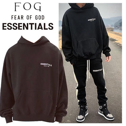 FEAR OF GOD Hoodies Unisex Street Style Long Sleeves Plain Cotton Hoodies