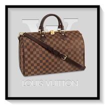 Louis Vuitton SPEEDY Other Check Patterns Canvas Blended Fabrics 2WAY