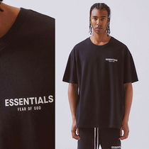 FEAR OF GOD ESSENTIALS Unisex Street Style Plain Cotton Short Sleeves T-Shirts