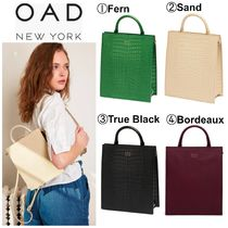 OAD NEW YORK Casual Style 2WAY 3WAY Plain Leather Backpacks