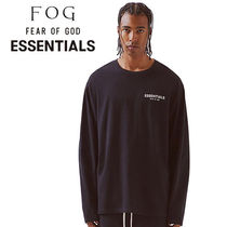 FEAR OF GOD ESSENTIALS Unisex Street Style Long Sleeves Plain Cotton