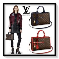 Louis Vuitton POPINCOURT Monogram Casual Style Canvas Blended Fabrics 2WAY Handbags