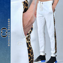 CRIMINAL DAMAGE Leopard Patterns Plain Cotton Joggers & Sweatpants