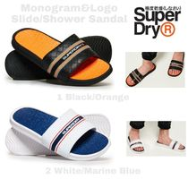 Superdry Monogram Unisex Blended Fabrics Shower Shoes PVC Clothing