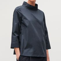 COS Casual Style Cropped Plain Cotton Medium Tops