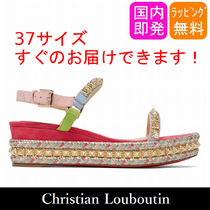 Christian Louboutin Pyradiams Open Toe Elegant Style Sandals