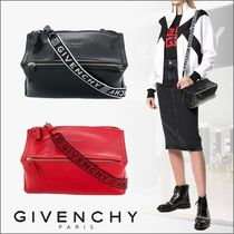 GIVENCHY PANDORA Casual Style Plain Leather Shoulder Bags